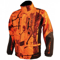 Veste Softshell camouflage orange 441N