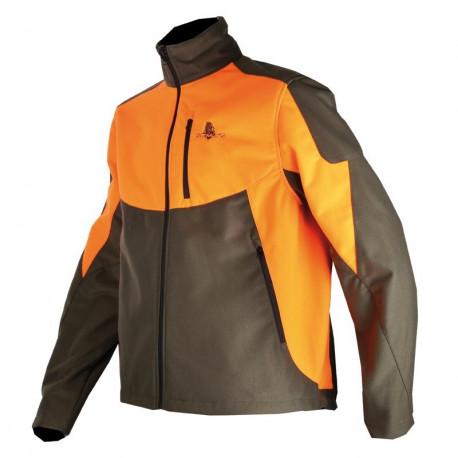 Somlys - Blouson Softshell polytricot orange / vert - 401