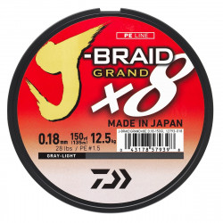 DAIWA J-BRAID GRAND X8 GRISE