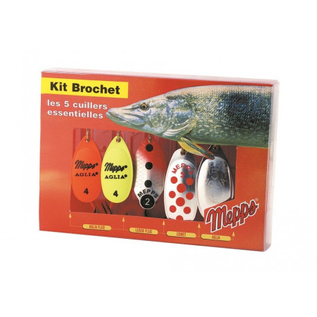Kit Brochet 3 Cuillers Mepps 2 Lusox 1 Mino Neuf