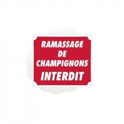 Pancarte Akyl - Ramassage de Champigons Interdit