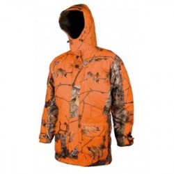 Veste Matelassée Imperméable Camou Orange 461