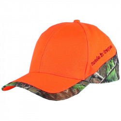CASQUETTE BICOLORE ORANGE/CAMO 3DX