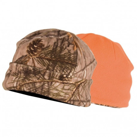 Bonnet réversible Camo DX / Orange