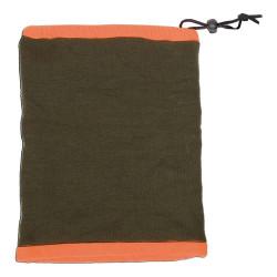 Tour de cou réversible orange / vert